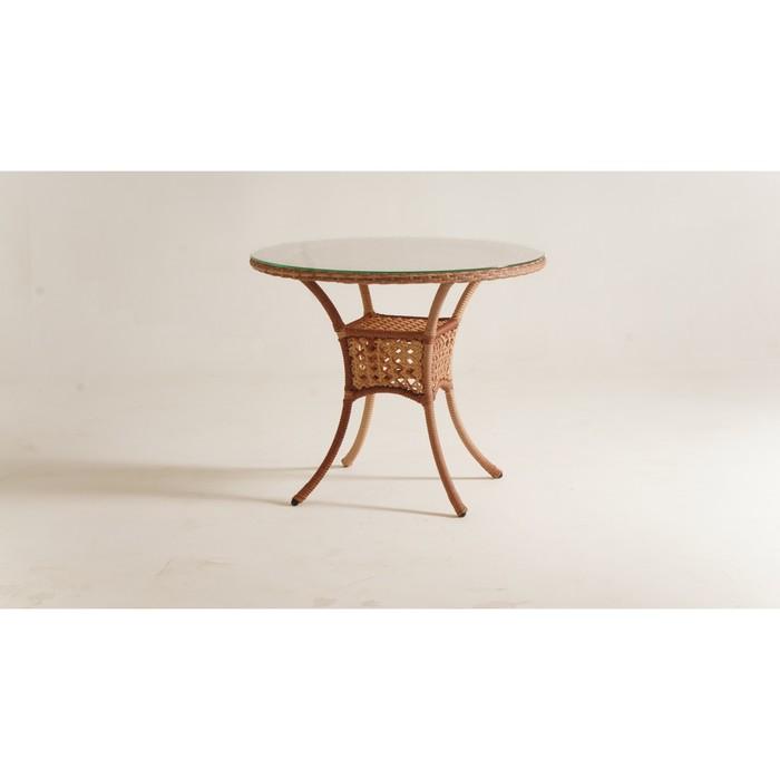 Стол обеденный DEKO круглый, d-90 см, цвет капучино
