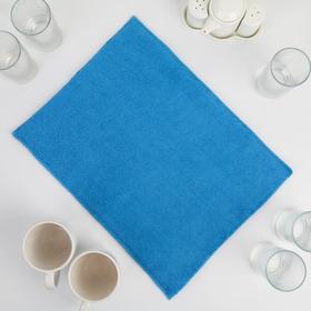 Коврик для сушки посуды из микрофибры 30х40 голубой Ош