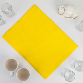 Коврик для сушки посуды из микрофибры 30х40 желтый Ош