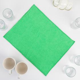 Коврик для сушки посуды из микрофибры 30х40 зеленый Ош