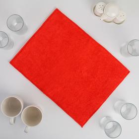 Коврик для сушки посуды из микрофибры 30х40 красный Ош