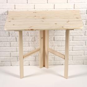 Стол пристенный, откидывающийся, 80х74х45см, квадратный, СОСНА Ош