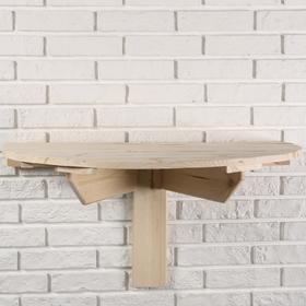 Стол пристенный откидывающийся, 80×43,5см, из сосны, полукруглый Ош