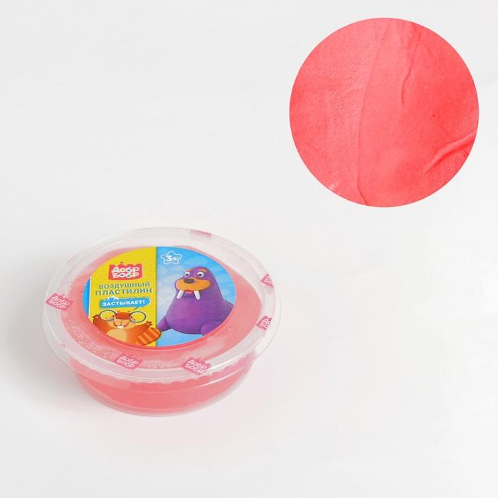 Воздушный пластилин «ДобрБобр», красный, 50 мл