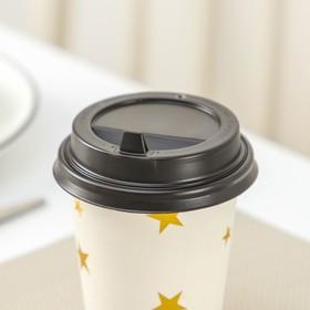 Крышка одноразовая на стакан с носиком, d=8 см, цвет коричневый, 1000 шт/уп.