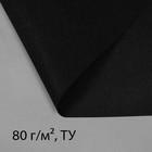 Материал мульчирующий, 0,8 ? 5 м, плотность 80, с УФ-стабилизатором, чёрный, Greengo, Эконом 20%