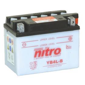 Аккумуляторная батарея повышенной мощности Nitro YB4L-BN, 12В, 4Ач, обратная (- +) Ош