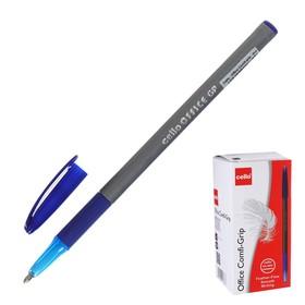 Ручка шариковая Cello OFFICE COMFI-GRIP уз 0.7мм однораз, серебристый, чернила синие 829380