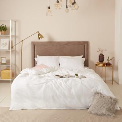 Постельное бельё 2сп Этель «Gloss», цвет белый, 180х210 см, 235х250 см, 50х70+3 см -2шт