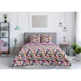 Постельное бельё Этель1.5 сп «Flowers» 143х215 см, 150х70 см, 70х70 см -2шт