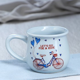 Чашка Let's go for a ride, 0,3 л, голубая Ош