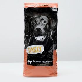 Сухой корм Tasty для собак, говядина, 2,2 кг Ош