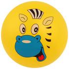 Мяч детский «Животные 2», с наклейкой, d=22 см, цвета МИКС - Фото 3
