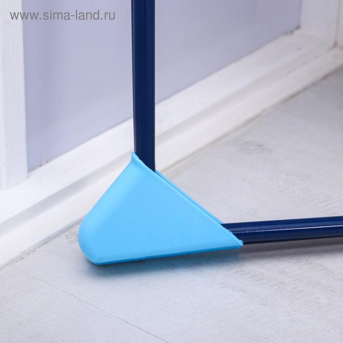Качели детские напольные «Ветерок», цвет синий,рисунок МИКС