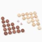 Фишки для игры в нарды, дерево, d=2 см,набор 30 шт + 2 кубика