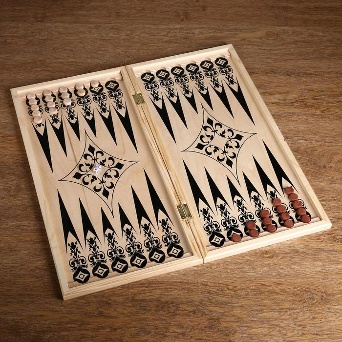 Фишки для игры в нарды, дерево, d2 см,набор 30 шт 2 кубика