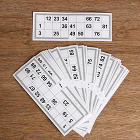 Карточки игровые для лото (набор 25 шт), 22х8 см Ош
