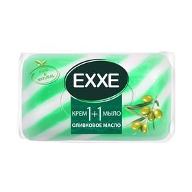 Крем - мыло Exxe 1+1 'Оливковое масло' зеленое полосатое, 80 г Ош