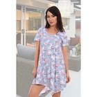 Платье женское «Краснокрыл», цвет светло-серый, размер 44