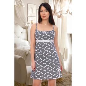 Сорочка женская, цвет синий, размер 44
