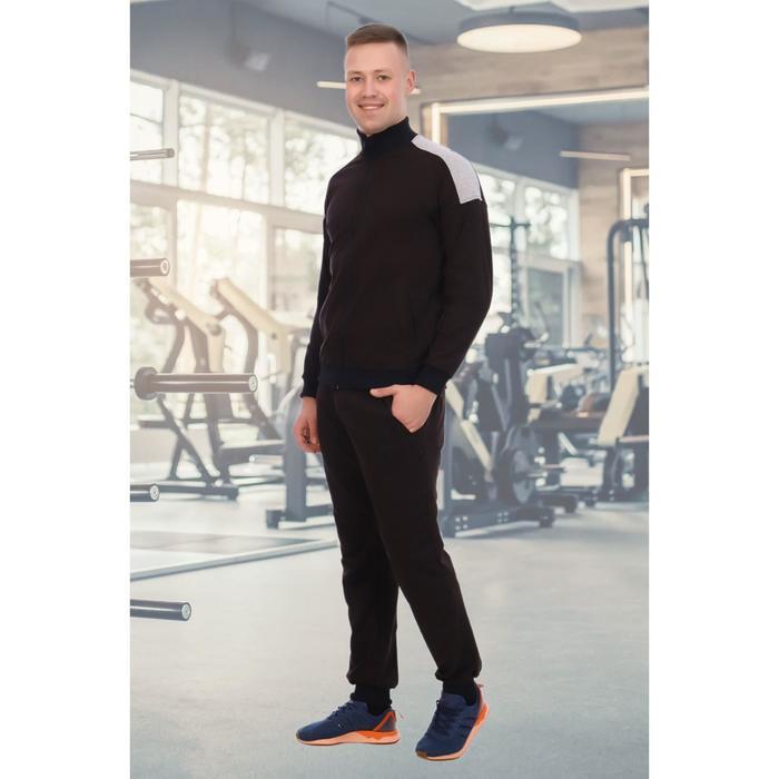 Костюм мужской «Дервейс» (толстовка, брюки), цвет чёрный, размер 48