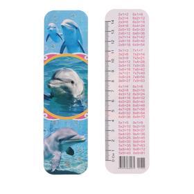 Закладка 'Дельфины' глиттер Ош