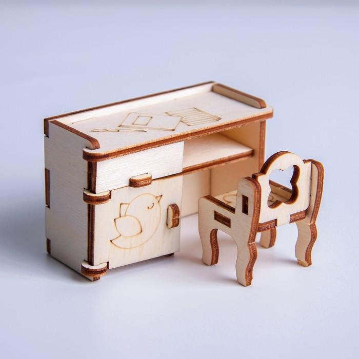 Кукольная мебель Стол и стул