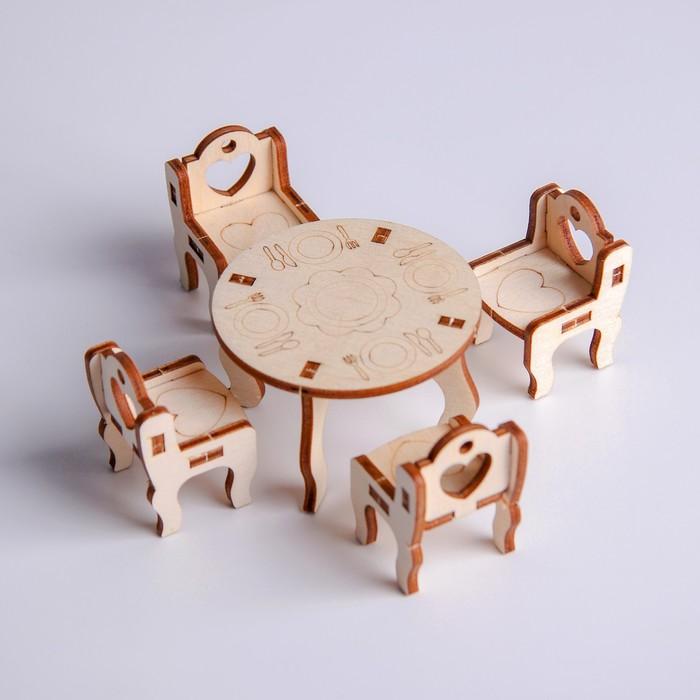 Деревянная мебель для кукол Кухонный уголок