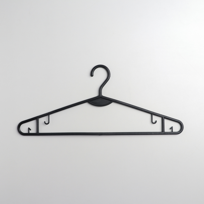 Вешалка-плечики костюмная, размер 48-50, цвет чёрный