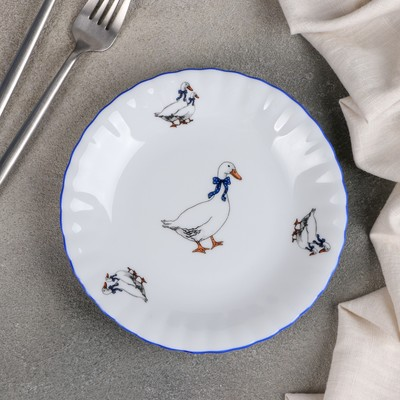 Тарелка десертная «Гуси», d=17 см - Фото 1