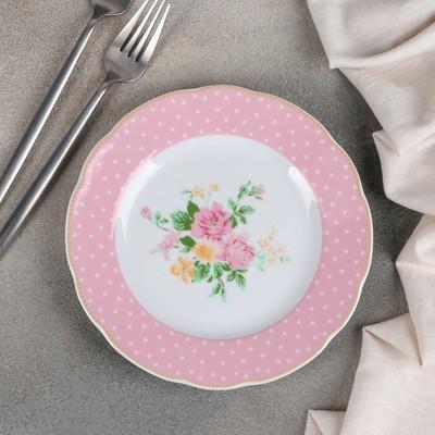 Тарелка десертная Mix&Match, d=19 см, цвет розовый - Фото 1