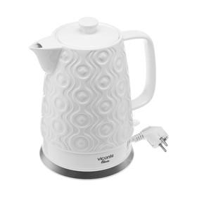 Чайник электрический Viconte VC-3290, 2200 Вт, 1.8 л, керамика, белый