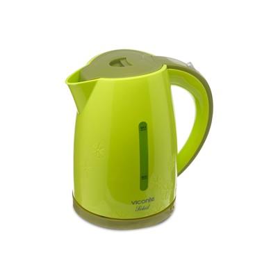 Чайник электрический Viconte VC-3271, пластик, 1.8 л, 2200 Вт, зеленый