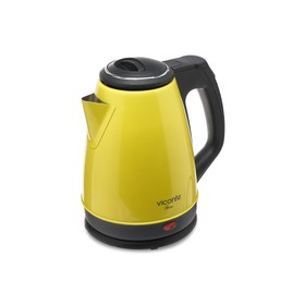 Чайник электрический Viconte VC-3281, 2000 Вт, 1.8 л, металл, жёлтый