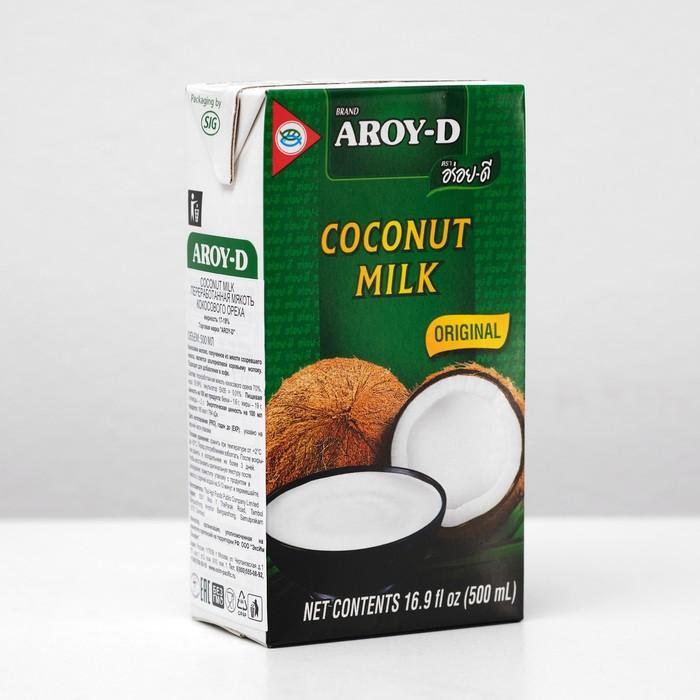 Кокосовое молоко AROY-D, растительные жиры 17-19%, 500 мл