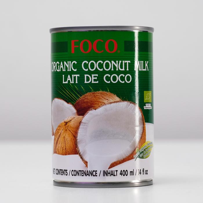"""Органическое кокосовое молоко """"FOCO"""" 10-12%, 400 мл"""