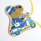 Шнуровка «Полицейский мистер Выдра» 15.6×14.4×0.3 см, по лицензии СВИНКА ПЕППА