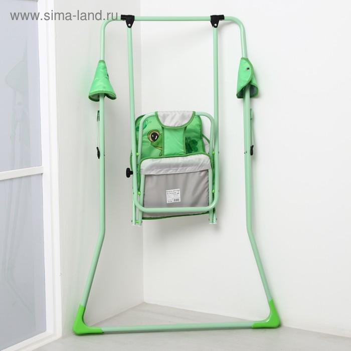 Качели детские напольные «Лягушонок», зеленые