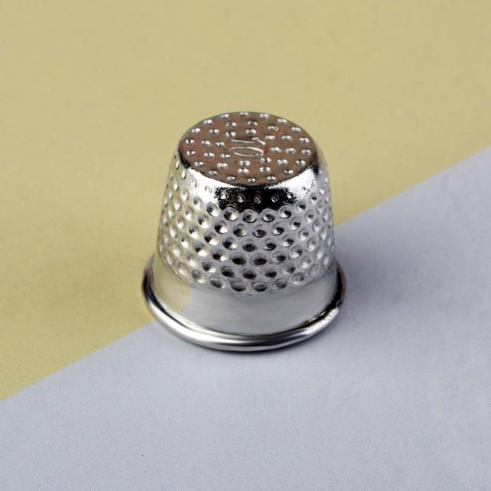 Напёрсток, 1,6 ? 1,6 см, цвет серебряный