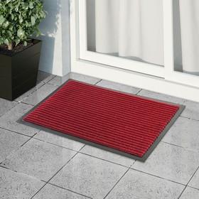 Коврик придверный влаговпитывающий ребристый «Стандарт», 40×60 см, цвет красный Ош