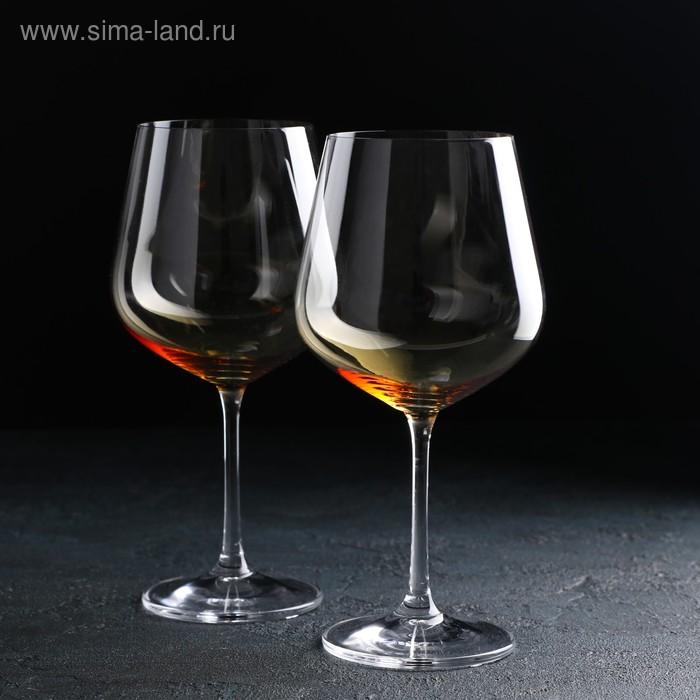 """Набор бокалов для вина 600 мл """"Natura амбер. Дора"""", 2 шт"""