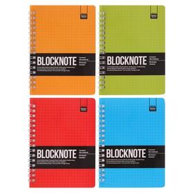 Бизнес-Блокнот А6, 60 листов на гребне Ultimate basics Active book, картонная обложка, микс из 4-х видов