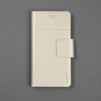 """Чехол-книжка для телефона Maverick Slimcase, универсальный, размер 5-5.2"""", цвет золотой"""