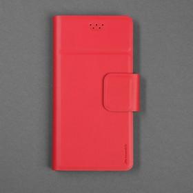 """Чехол-книжка для телефона Maverick Slimcase, универсальный, 5-5.2"""", красный"""