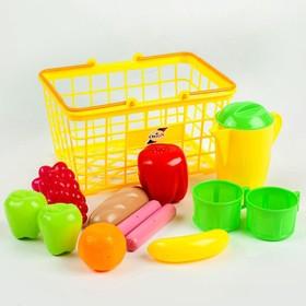 Набор «Корзина малая с посудой и продуктами», МИКС