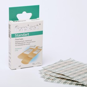 Пластырь Fixplast Sensitive стерильный, бактерицидный, с антисептиком, на полимерной основе, 19*72 мм