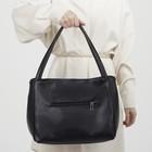 Сумка женская, отдел на молнии, 3 наружных кармана, цвет чёрный - Фото 3