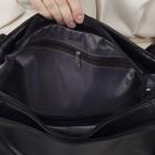 Сумка женская, отдел на молнии, 3 наружных кармана, цвет чёрный - Фото 5