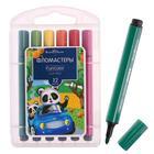 Фломастеры 12 цветов Funcolor Jumbo утолщённые, в пластиковом пенале - Фото 2