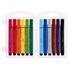 Фломастеры 12 цветов Funcolor Jumbo утолщённые, в пластиковом пенале - Фото 3